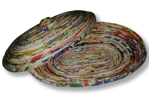 Large Oval Dish with Lid
